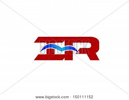 iR company logo design illustration vector template