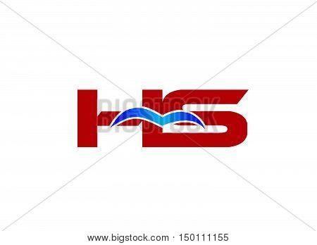 HS Logo. Vector Graphic Branding Letter Element