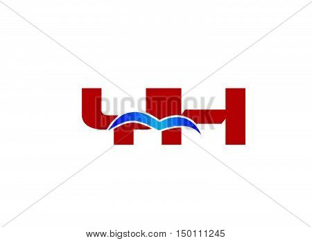 Y and H logo vector design vector template