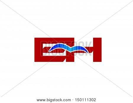 E and H logo vector vector design