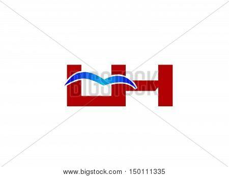 L and H logo vector illustration design
