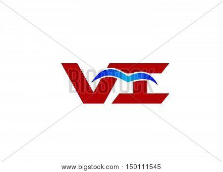 VI company linked letter logo design template