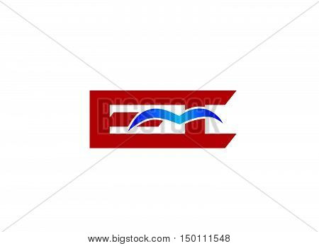 EI company linked letter logo design template