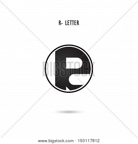 Creative R-letter icon abstract logo design.R-alphabet symbol.Corporate business and industrial logotype symbol.Vector illustration