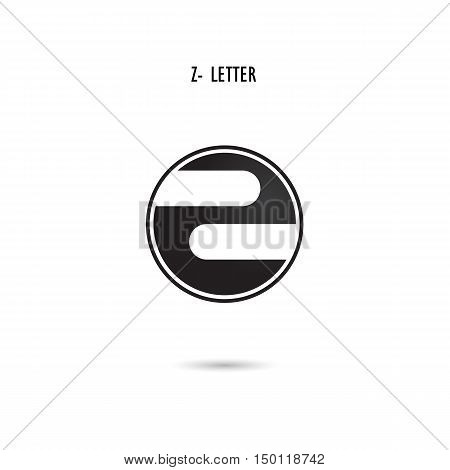 Creative Z-letter icon abstract logo design.Z-alphabet symbol.Corporate business and industrial logotype symbol.Vector illustration