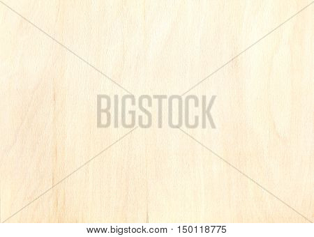 Texture Of Birch Plywood Plank With Natural Wooden Pattern
