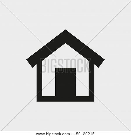 home icon stock vector illustration flat design