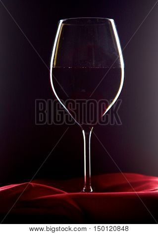 bottle of wine and glass on the table.