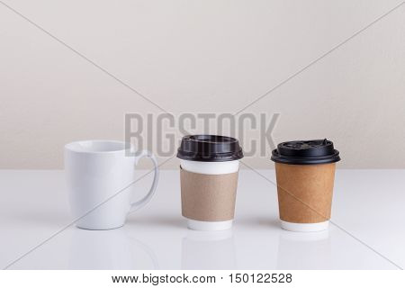 Take-out coffee with cup holder and cup