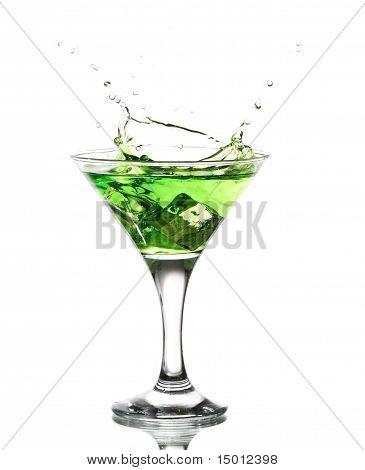 green martini cocktail