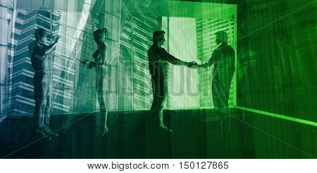 International Trade and Government Business Consulting as Art 3D Render