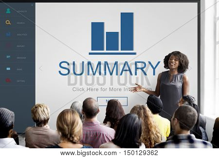 Summary Result Progress Chart Concept