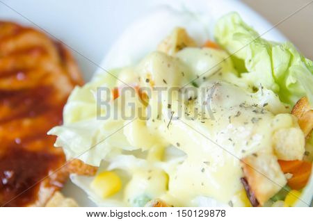 close up of salad fresh green food