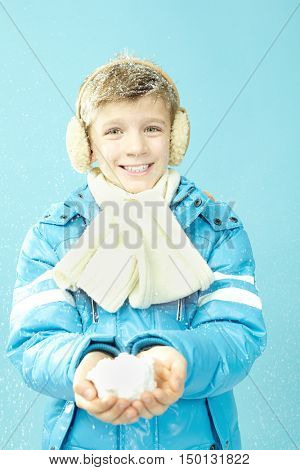 Boy in warm clothing