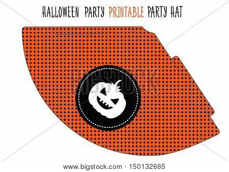 Printable hat for Halloween party. Handmade cut out