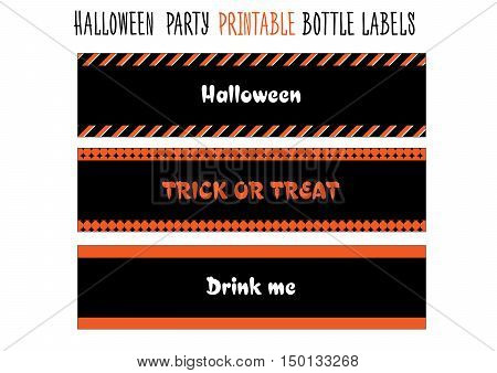 Printable bottle labels for Halloween party. Handmade cut out