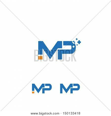 Imp letter vector, mp, ip, medical logo,