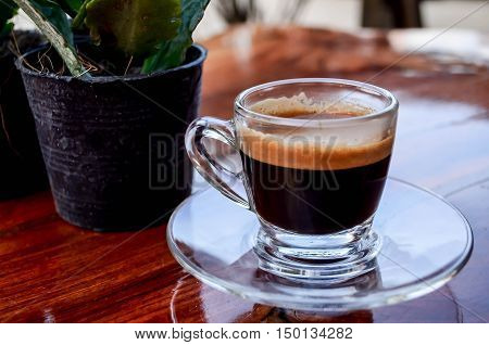 coffee black green drink indoor breezy table