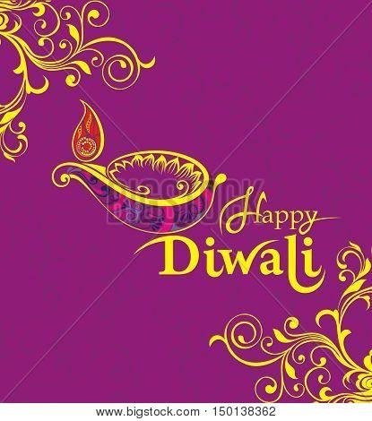 Diwali . Oil Lamp for your design