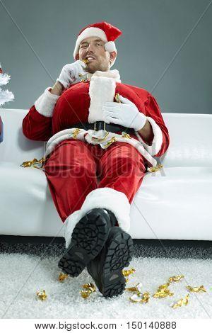 Guzzling Santa