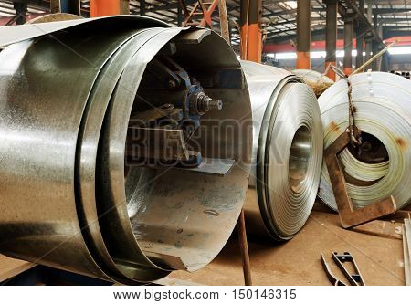 Steel plant production workshop and the volume of the plate