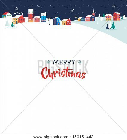 Merry Christmas greeting card, poster and background