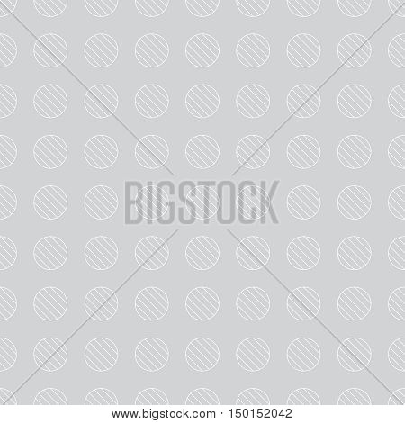 Vector seamless pattern. Abstract textured background. Classical simple geometrical texture with repeating striped circles. Surface for wrapping paper shirts cloths.