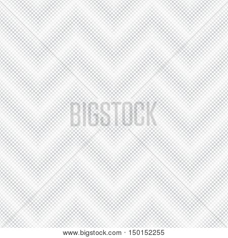 Vector seamless pattern. Abstract halftone pixel background. Modern stylish texture. Repeating zigzag grid with small squares. Contemporary design
