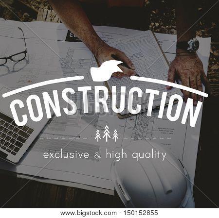 Construction Blueprints Building Architect Concept