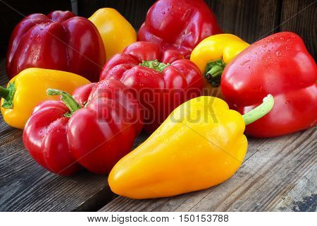 Red And Yellow Paprika Peppers