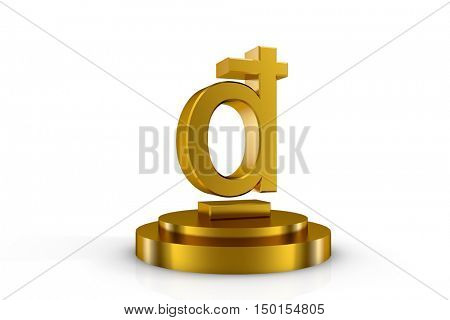 3d illustration currency sign of d