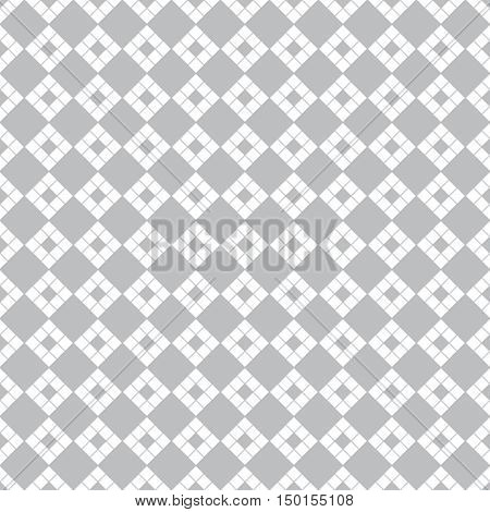 Vector seamless pattern. Abstract textured background. Classical rhombic geometrical texture with repeating rhombuses diamonds. Surface for wrapping paper shirts cloths.