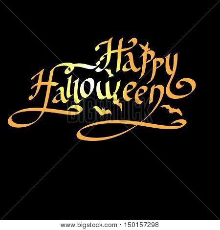 Happy Halloween lettering greeting card EPS 10 vector