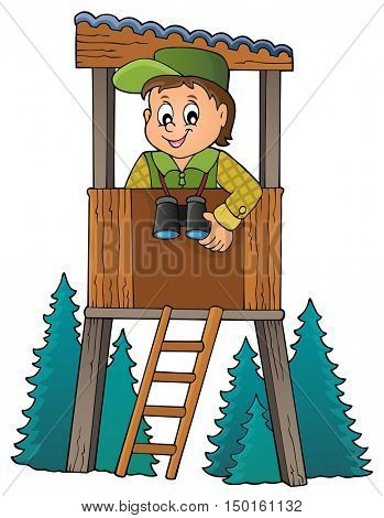 Forester theme image 1 - eps10 vector illustration.