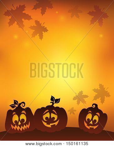 Pumpkin silhouettes theme image 7 - eps10 vector illustration.