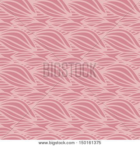 Abstract geometric pattern with pink colors wavy lines. Vector seamless background. Pink ornament for child clothing, paper, print, textile