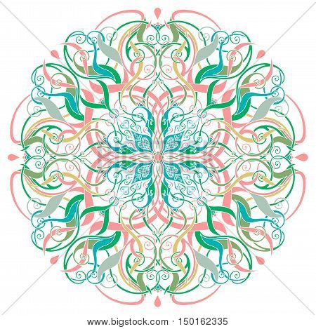 decorative floral pattern on the white background