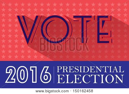 Digital vector usa presidential election 2016 with vote and stars, flat style
