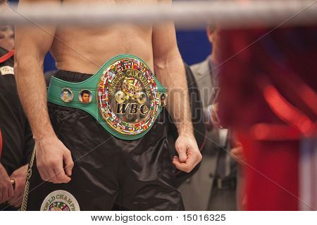 Wbc Belt On Vitali Klitschko