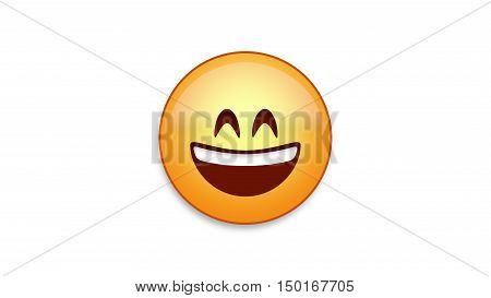 Smile emoji emoticon. Easy integration in photo and video.