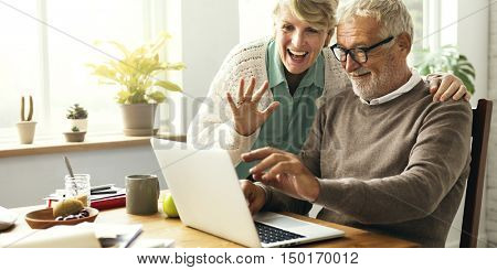 Senior Couple Living Casual Pensioner Social Concept