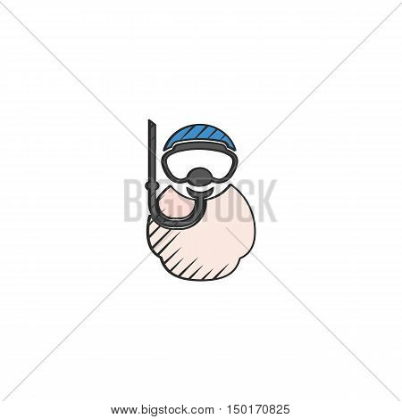 diving equipment icon on white background for web