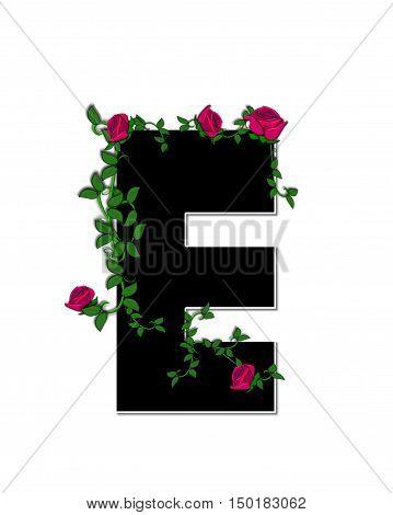 Alphabet Rose Trellis E
