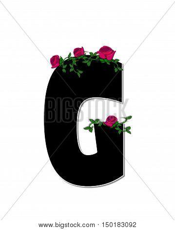 Alphabet Rose Trellis G