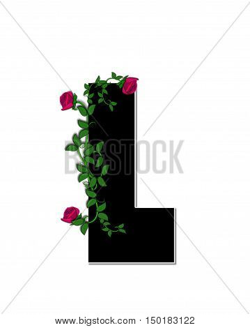 Alphabet Rose Trellis L