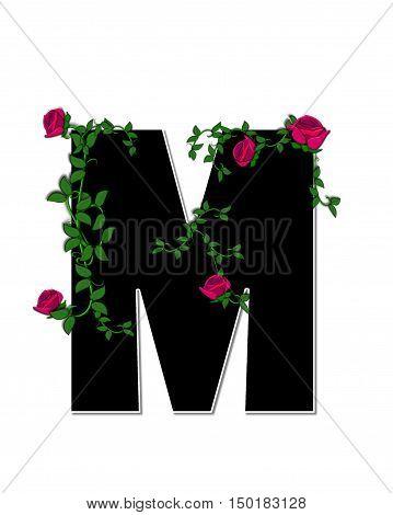 Alphabet Rose Trellis M