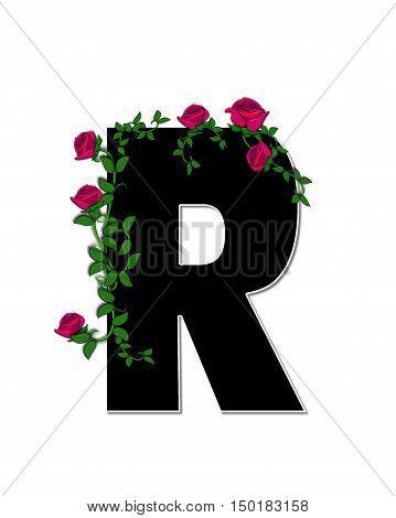 Alphabet Rose Trellis R