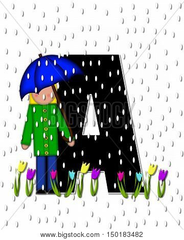 Alphabet Children April Showers A