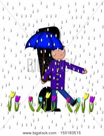 Alphabet Children April Showers Exclamation