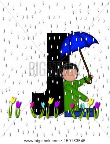Alphabet Children April Showers J